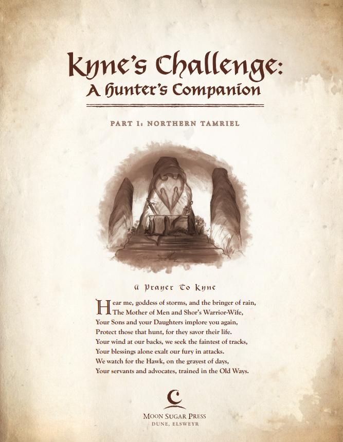 Kyne's Challenge: A Hunter's Companion