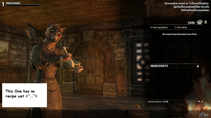 Cooking eso provisioning guide this was the first time i realized how important recipes are it is not enough to just mix up ingredients because you know in your own head what they can forumfinder Choice Image