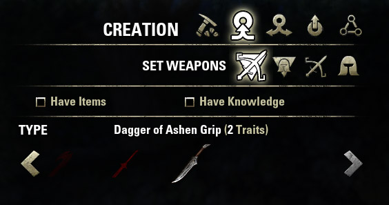 Set of Ashen Grip