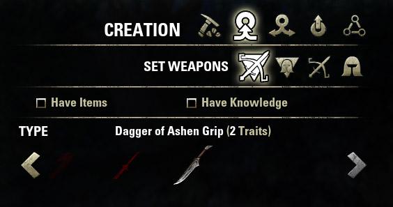 Set of Ashen Grip
