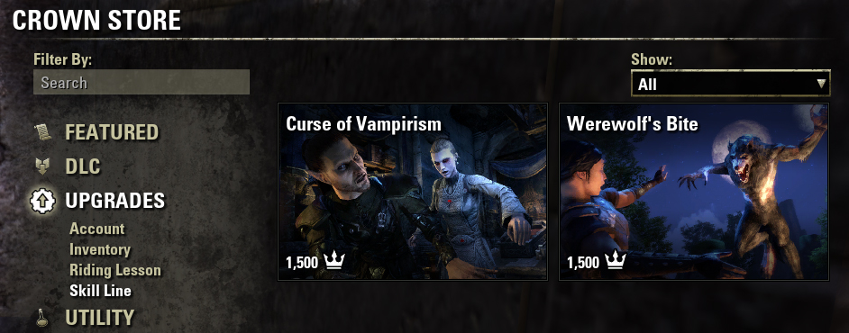Vampirism in Crown Store