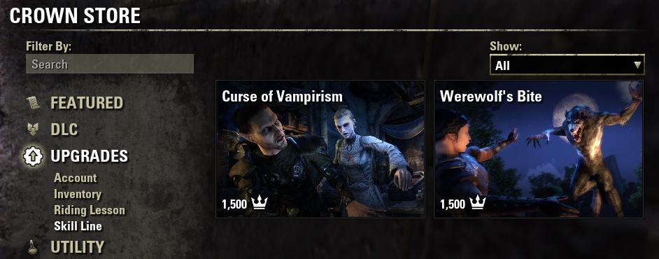 Vampirism in Crown Store